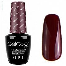 Гель лак OPI GelColor SKYFALL 007 (Бордово-коричневый) D26