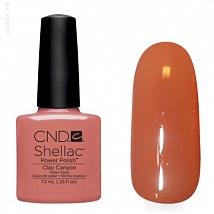 Гель лак CND Shellac Clay Canyon (Коричнево-розовый, светлый,эмаль)