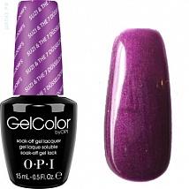 Гель лак OPI GelColor Suzi & the 7 Dusseldorfs (Фиолетовый с микроблестками) G23