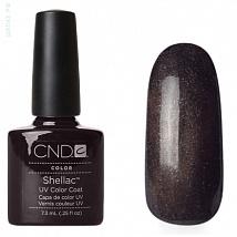 Гель лак CND Shellac Night Glimmer (Тёмно-серый с разноцветными микроблёстками)