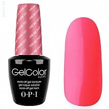 Гель лак OPI GelColor Strawberry Margarita (Ярко-розовый, не кислотный, Клубника) M23