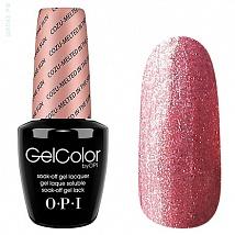 Гель лак OPI GelColor Cozu-Melted In The Sun (Розовый с микроблестками) M27