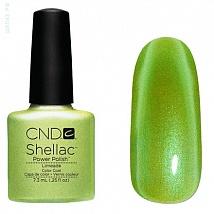 Гель лак CND Shellac Limeade (Светло салатовый с микроблестками,не плотный)