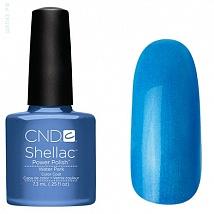 Гель лак CND Shellac Water Park (Светло синий ,с серебрянными микроблестками)