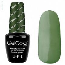 Гель лак OPI GelColor Here Today Aragon Tomorrow (Темно зеленый, Эмалевый) E48