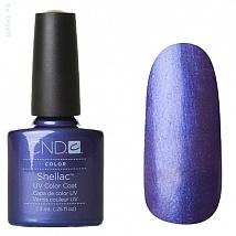 Гель лак CND Shellac Purple Purple (синий с фиолетовыми микро-блестками)